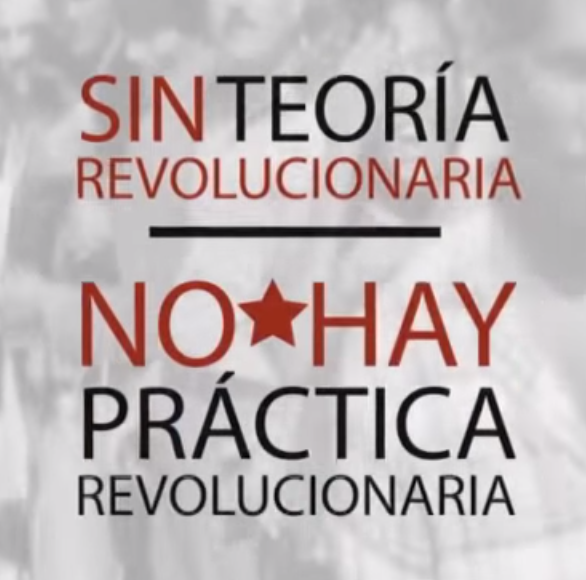 sin teoria revolucionaria no hay practica revolucionaria