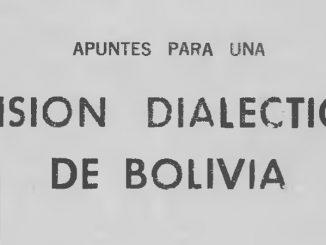 vision dialectica de bolivia roberto alvarado daza